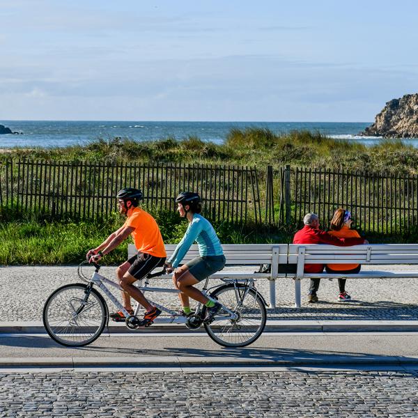 percurso bicicleta tandem